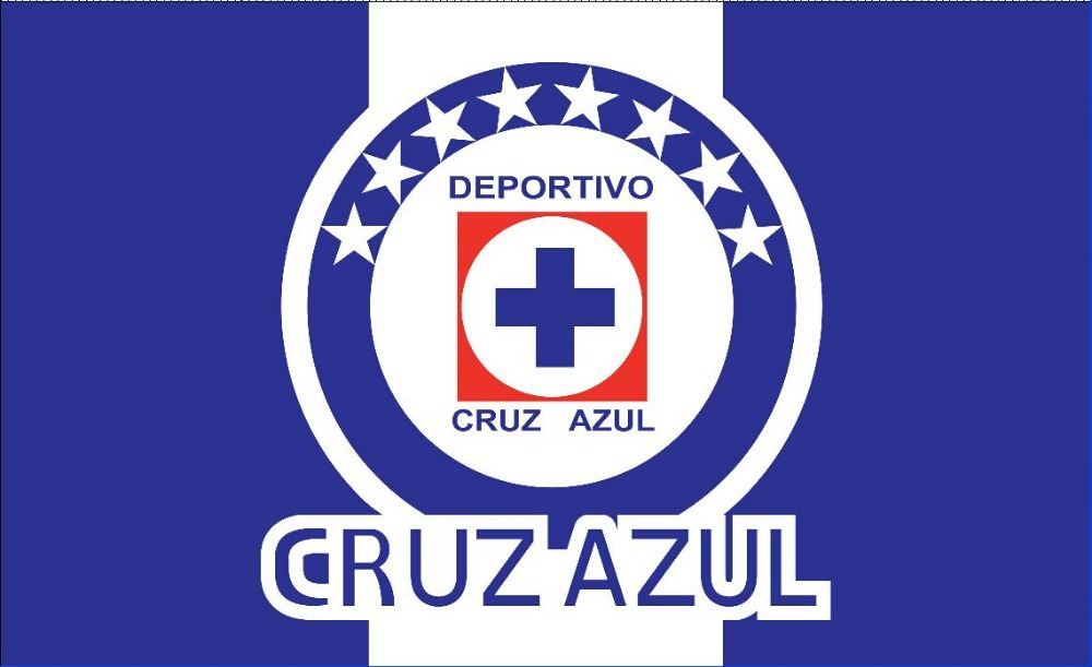 High quality Cruz Azul Flag 3*5 ,90*150 cm banners. Mexico Mexican ...