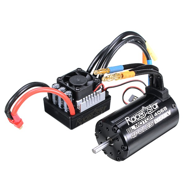 Racerstar 4068 Brushless Waterproof Sensorless Motor 2050KV 120A ESC For 1/eight Vehicles RC Automotive Elements