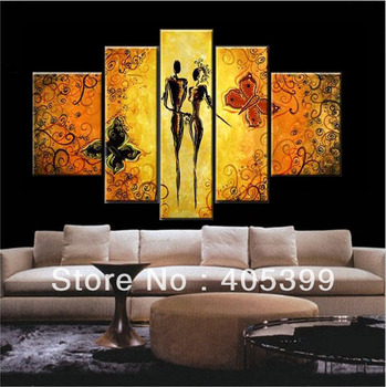 Our Romance !! Large Handmade Modern Canvas Oil Painting Wall Art ,Free Shipping Worldwide JYJ011