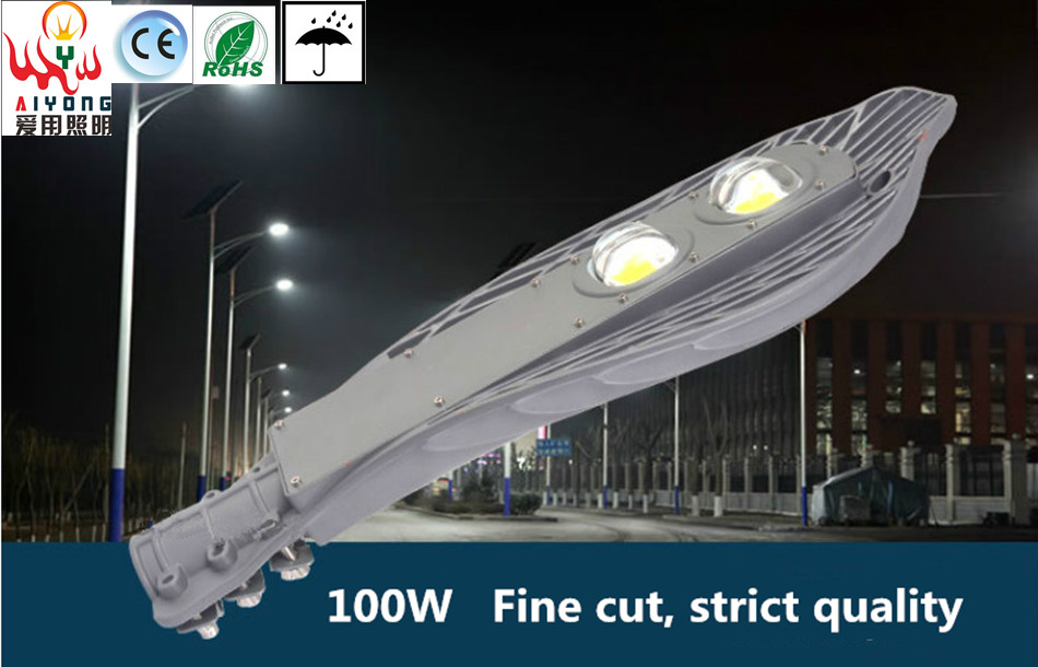 LED street light waterproof outdoor courtyard Park Plaza residential road lamp poles Cantilever lamps 100W(China (Mainland))