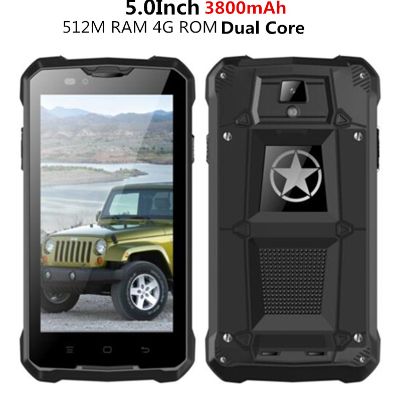 Unlocked Original Jeep Z5 rugged Smartphone mobile cell phone MTK6572 Dual Core 3G GPS Android 4.4 3800mAh Dustproof m18 z6 V8(China (Mainland))