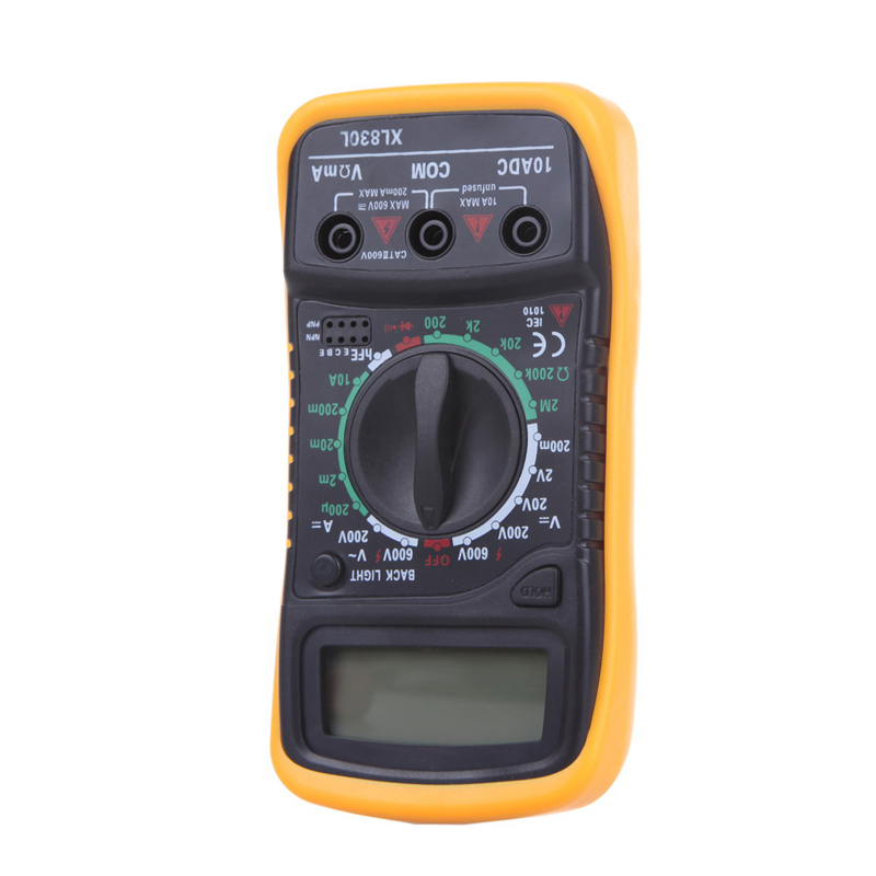 High Quality Digital LCD Multimeter Voltmeter Ammeter AC DC OHM Volt Tester Test Current Free Shipping