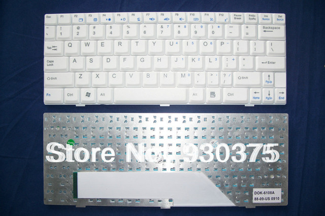 Genuine Original New For MSI Wind U105 U110 U101B U120 U100 U101 U90 U101C 4489 Keyboard TECLADO US English White Free Shipping