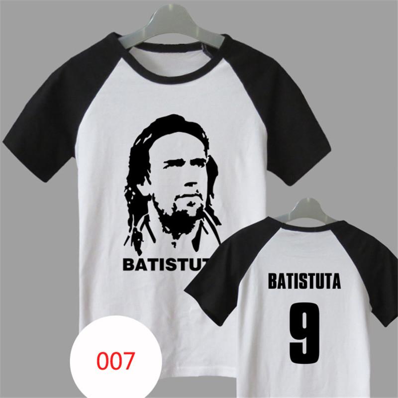 Batistuta Boca Juniors Argentina Football Soccer Jersey BATISTUTA Camiseta de Futbol Original Football Jerseys(China (Mainland))