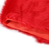 моде теплый очаровательной женщины свадебное платье из искусственного меха шаль для новобрачных платок с высоким качеством серпантин Красная