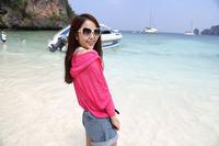 Кнопка лето моды корейской версии конфеты цветные солнца защиты одежда солнца защиты одежда Пальто женские блузки