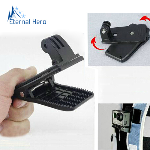 Gopro Tripods Accessories 360 degree Quick Clip For GoPro HD Hero3 and Hero3+ Hero 1 2 able to turn 360 degree Clamp(China (Mainland))
