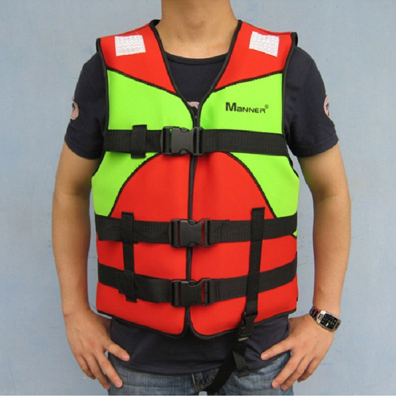 Professional Adult Life Vest Life Safety Fishing Clothes Life Jacket Water Sport Survival Suit Outdoor Swimwear red 40-100kg(China (Mainland))
