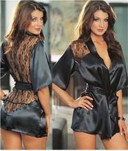 Летом стиль кружева сексуальная женская ночная рубашка Атласная Холтер + Стринги костюмы + Бесплатная Доставка S, M, L, XL, XXL(China (Mainland))