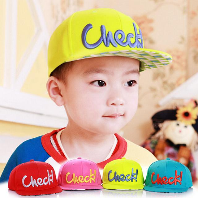 Прохладный! Новое письмо вышивка мальчик девушка шапка для шляпу ребенка Snapback ...