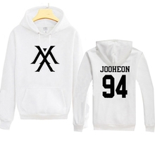 Kpop MONSTA X Sweatershirts Cotton blend HYUNGWO Unisex Hoodie Pullover Jumper Clothes Long sleeve for lover man and woman(China (Mainland))