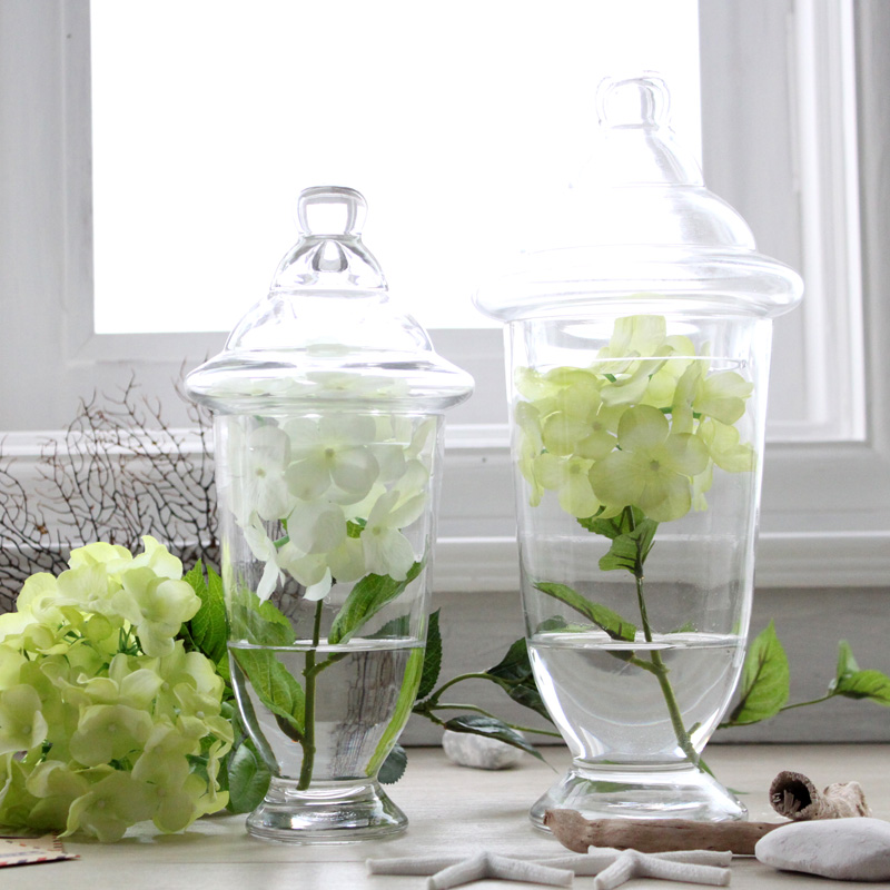 Modern fashion home kitchen decoration transparent lid for Kitchen jar decoration