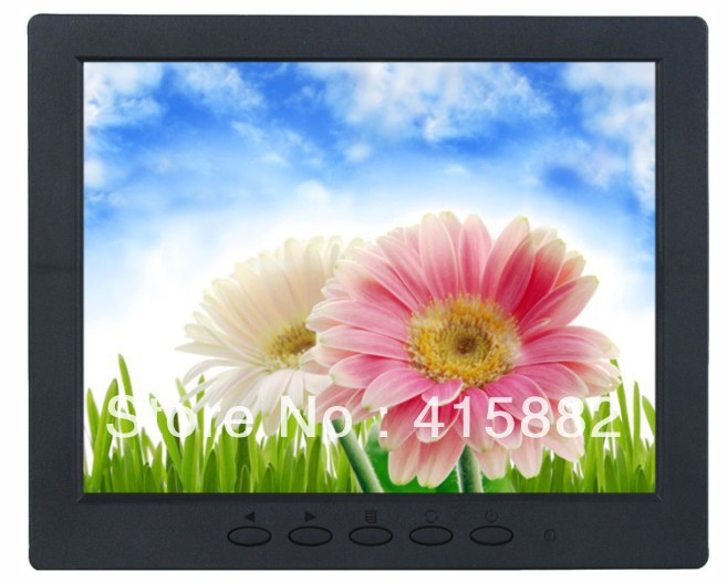"wholesale! 8 "" lcd cctv monitor with AV /VGA/BNC in, 800*600 resolution + free shipping(China (Mainland))"