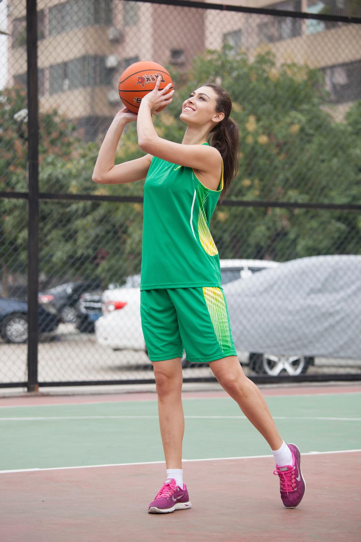 2016 New women basketball jerseys girls breathable blank sports kit wear basketball short shirts full set uniforms suits clothes(China (Mainland))