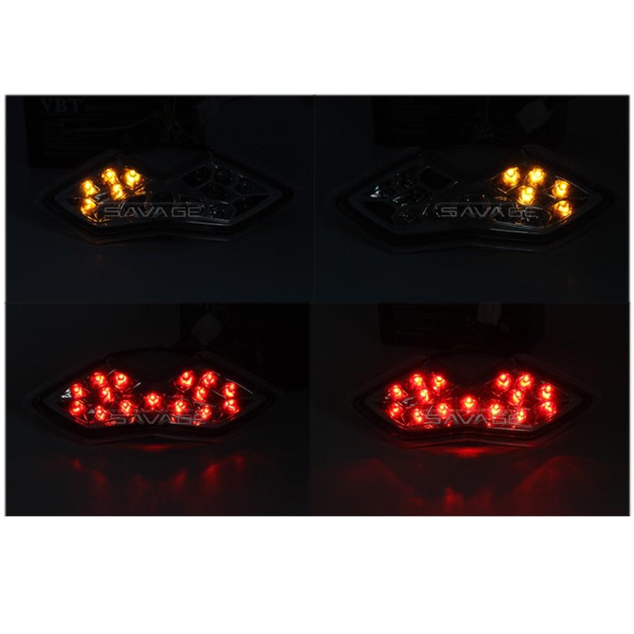 Купить Для KAWASAKI Z1000 10-13, Z1000SX 11-14, NINJA 1000 11-16 Мотоцикл Встроенный СВЕТОДИОД Задний Фонарь сигнала Поворота Мигалка Лампа Дым