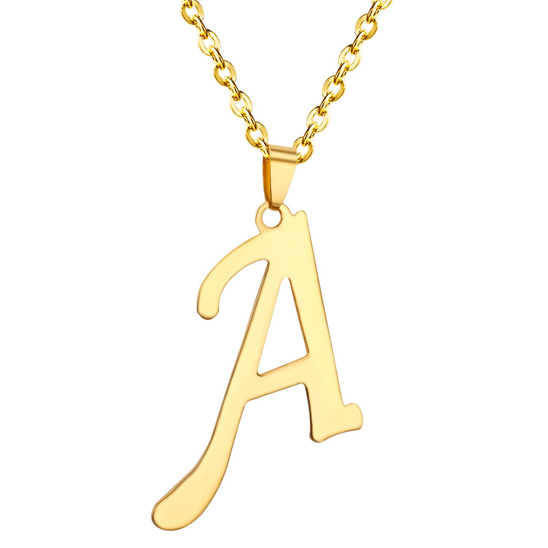 [Letters A B C D Pendant Necklace] Mental Alphabet Letters C Locket Necklace Gold\Silver Cross Chain DIY Charm Pendant Wholesale(China (Mainland))