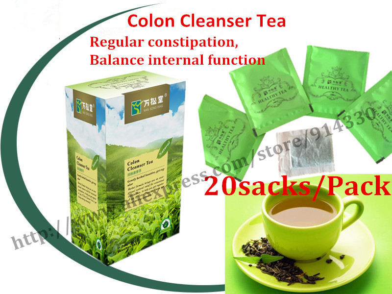 Гаджет  40pieces=2packs  laxative anti constipation tea Colon Cleanser Tea regular constipation, slim  green tea None Еда