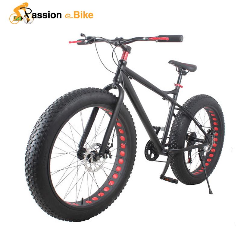 passion ebike 21 speed Aluminium mountain bike white frame 26*4.0 fat tire bicycle bicicleta bikes(China (Mainland))