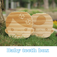 Tooth Box organizer for baby save Milk teeth Wood storage box great gifts 3-6YEARS creative for kids Boy and Girl image(China (Mainland))