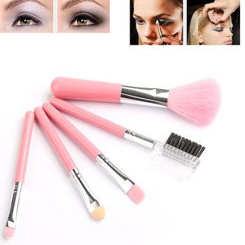 Мода мини 5 шт. розовый для макияжа косметики инструменты EДаhadow глаз и лица помада ...