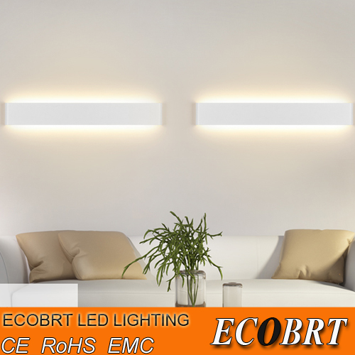 ECOBRT Modern 6W 24cm Long Aluminum LED Indoor Wall Lamps in Foyer as Decoration Sconce Light 90-260V ac(China (Mainland))