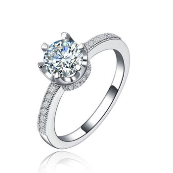 Top Quality 925 Sterling Silver Rings For Women Engagement/Wedding ring fashion Jewelry Big CZ Diamond Bijoux Super Deals L229