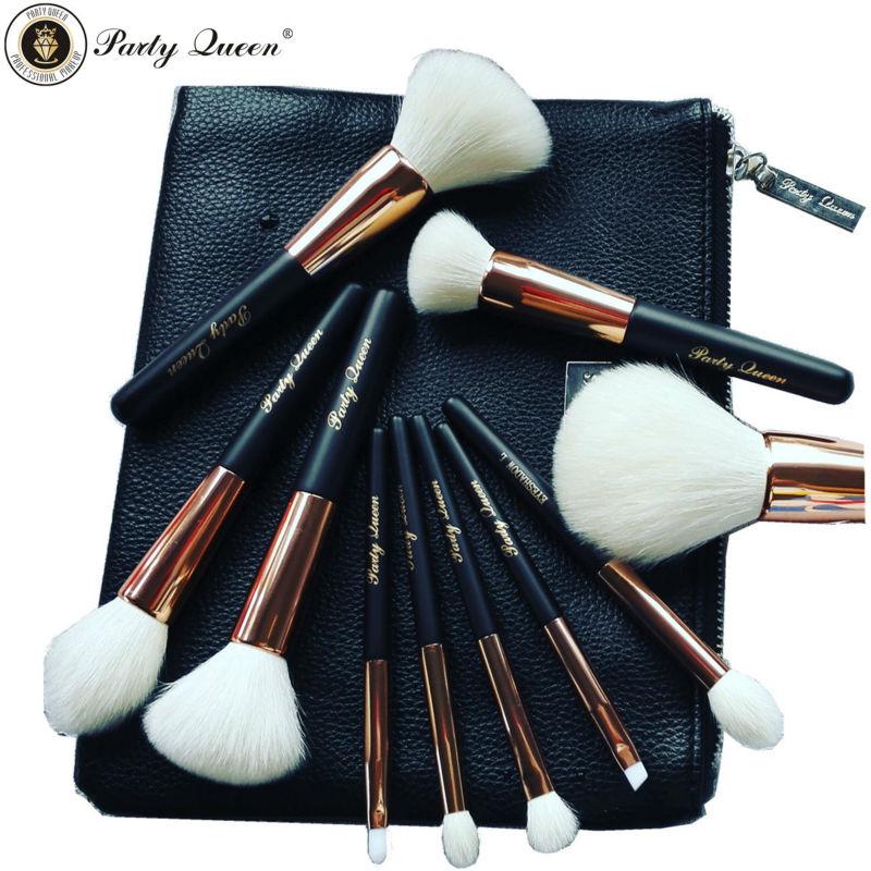 Здесь продается  Party Queen Beauty Amazing Unique Makeup Brush 10Pcs Wite Wool  Foundation Powder Blush Brush Set +Cosmetic Bag  Красота и здоровье