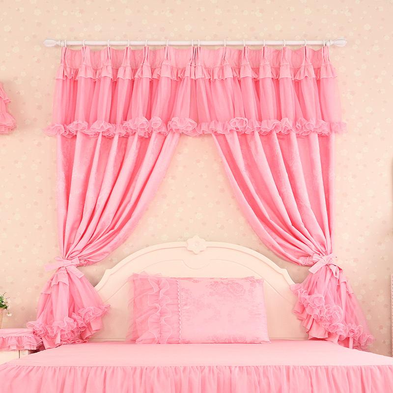 Compra cortinas de color rosa para las ni as online al por - Cortinas para bebes nina ...