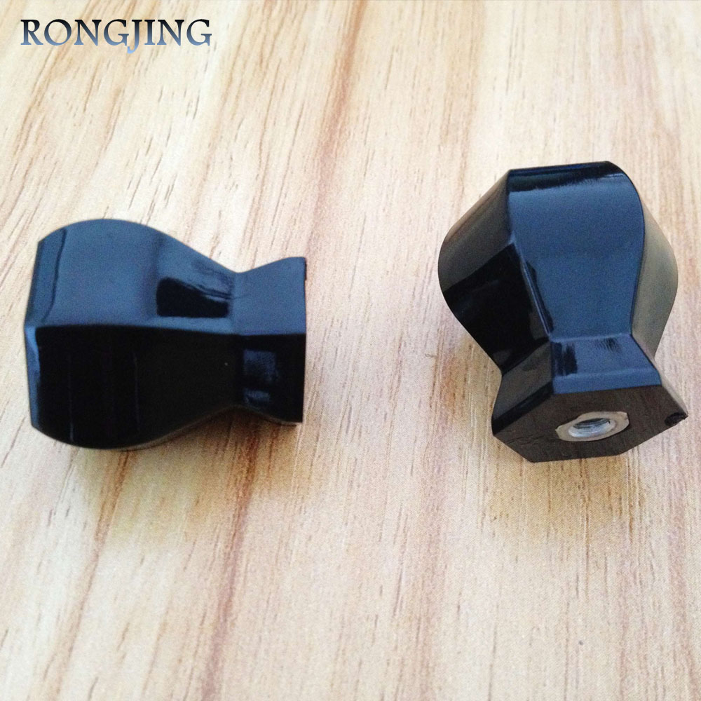 10pcs Black Kitchen Cabinet Drawer Knobs Solid Black Acrylic Knob Woden Shoes Box Handles Furniture Cupboard Dresser Pulls(China (Mainland))