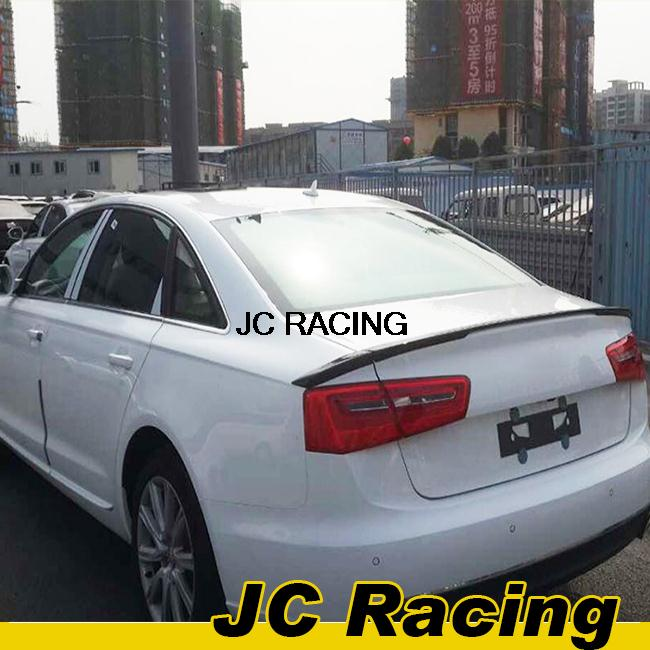 A6 C7 Carbon Fiber JC style Rear boot lip Spoiler, Trunk Lip For Audi (Fit For A6 C7 Facelift 2013 Non Sline)(China (Mainland))