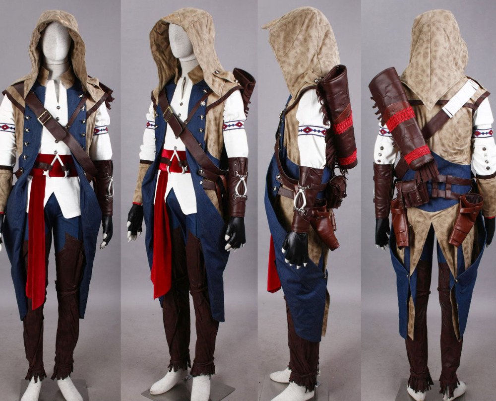 Assassins Creed III Cosplay Connor HI-Q Mens Wear Costume Evening Dress Dinner CoatОдежда и ак�е��уары<br><br><br>Aliexpress