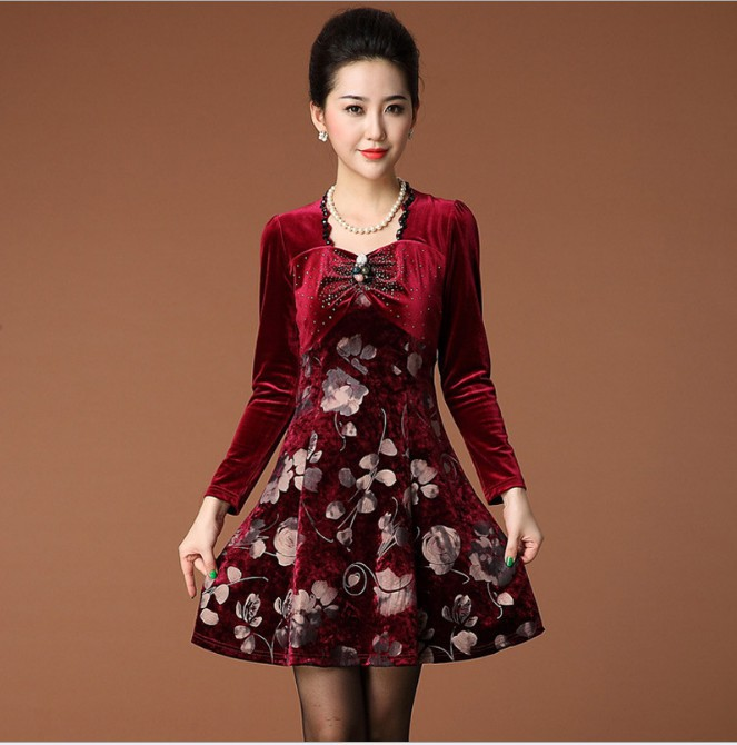 Red velvet dress womens a collection of dresses for you