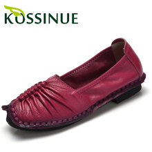 2016 Women's genuine leather shoes shallow mouth flat shoes comfortable shoes handmade women soft casual flats female shoes(China (Mainland))