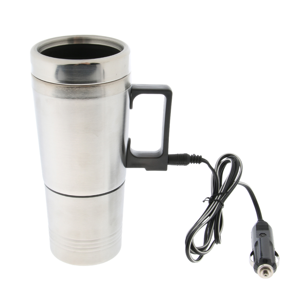 12V 300ml In Car Stainless Steel Coffee Maker Pot Heating Cup