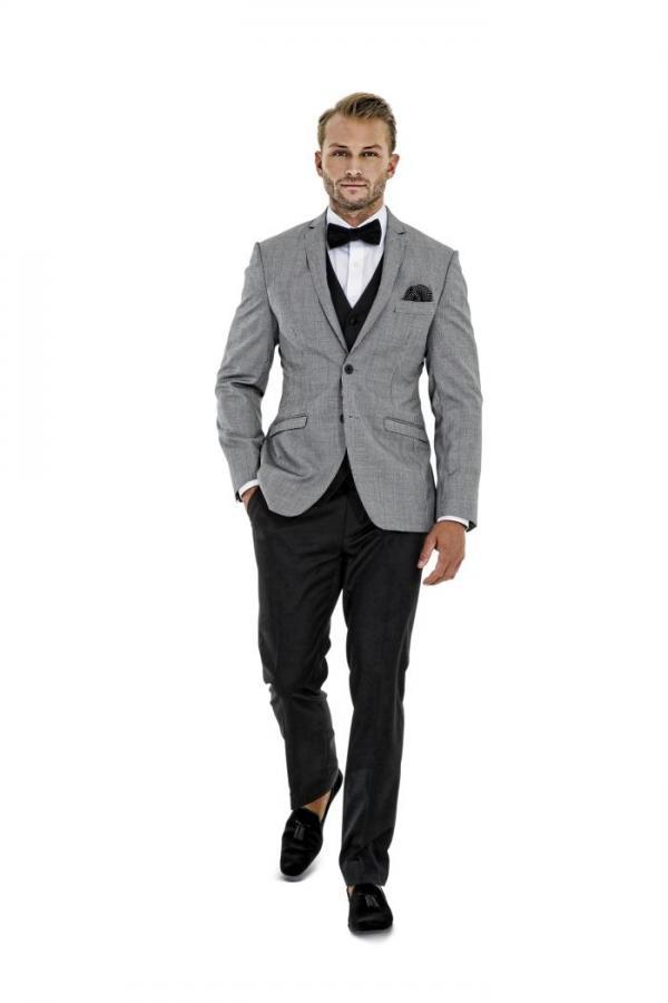 2015 New Arrival Custom Made Gray Groom Tuxedos Notch Lapel Groomsmen Men Wedding Suits(Jacket ...