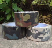 Military Tactical Multi-functional Camouflage 5cm*10M Tape/ Hunting accessories  Bionic Adhesive Cotton Tape