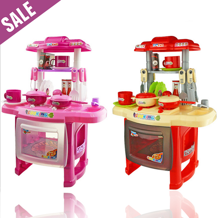 2-4 years best kids combination classic pretend play children kitchen kids toys cooking toys pink kitchen sets toys for kids(China (Mainland))