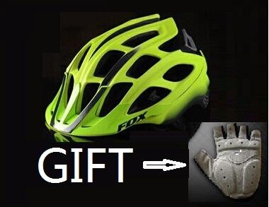 2015 new upgrade FOX helmet bicycle helmet mountain bicycle helmet fox mtb Bike Helmet (Free/a pair brand bike gloves as gift)(China (Mainland))