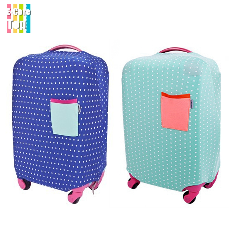 New Fashionable Travel Company Polyester Elastic Luggage Cover For 18''~30'' Trunk Case Protective Suitcase Cover Best Quality(China (Mainland))