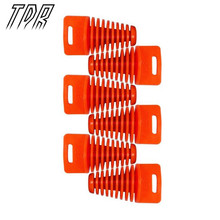 TDR 6pcs Big Orange ZXTD Exhaust Pipe Muffler Silencer 4 Stroke Plug Motorbike Motorcycle Accessories AB061