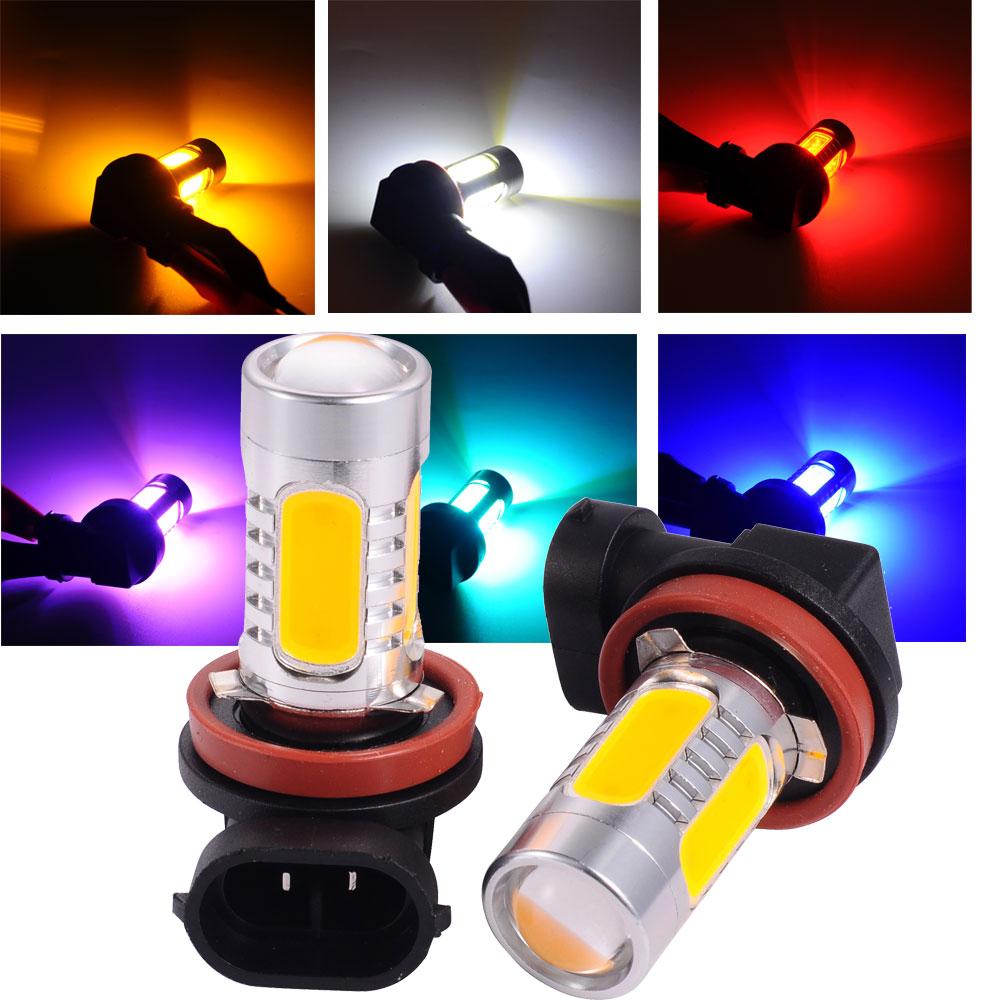 2Pcs 33-SMD H8 H11 7.5W 5730 Car Xenon LED Fog Driving DRL Bulb Light Lamps 12V