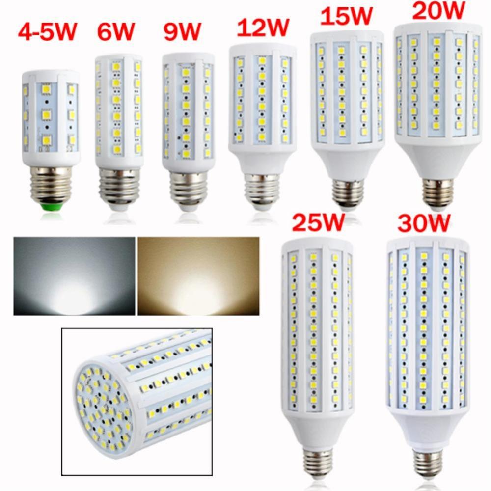E27 Screw Socket 6W 9W 12W 15W Power 5050 SMD Corn Bulb LED Lamp Light 110-220V warm cool white High Luminous Spotlight EB3730(China (Mainland))