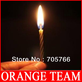 FreeShipping Magic Relighting Candles Magic Practical Birthday Jokes Gag Trick Prank Gifts 24packs/lot (10pcs/pack)