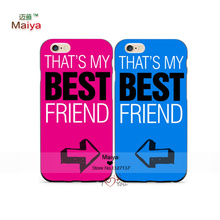 2pcs/Lots That's My Best Friend Lover Phone Cases For Iphone6 6+ Case Cover Give Love A Gift
