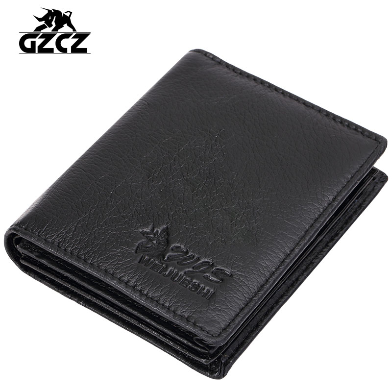 2016 New Genuine Leather Men Wallets Famous Brand Men Wallet Fashion Small Short Male Coin Purse ID Card Dollar Wallet Price(China (Mainland))