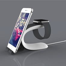 For iPhone 6 Charging Mount LOCA Mobius Charging Stand for Apple Watch for iPhone/iPad Mobile Phone Tablet Stand Holder