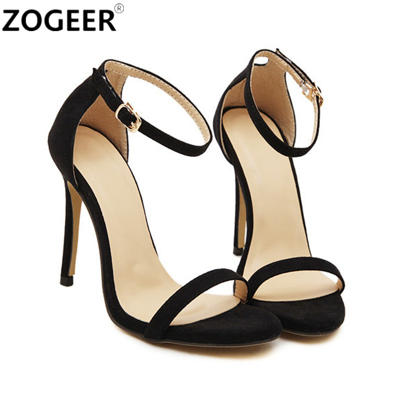 Silver Ankle Strap Heels Promotion-Shop for Promotional Silver ...