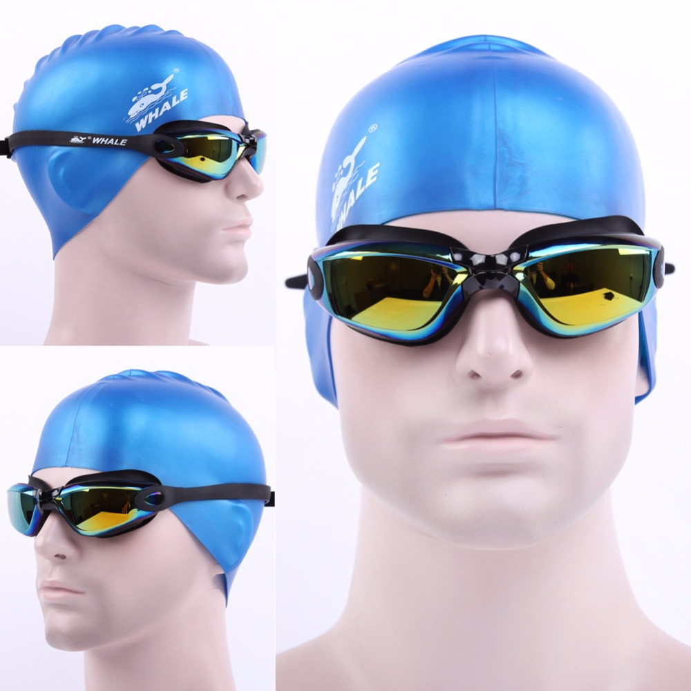 New Men Women Anti Fog UV Protection Swimming Goggles Professional Electroplate Waterproof Swim Glasses(China (Mainland))