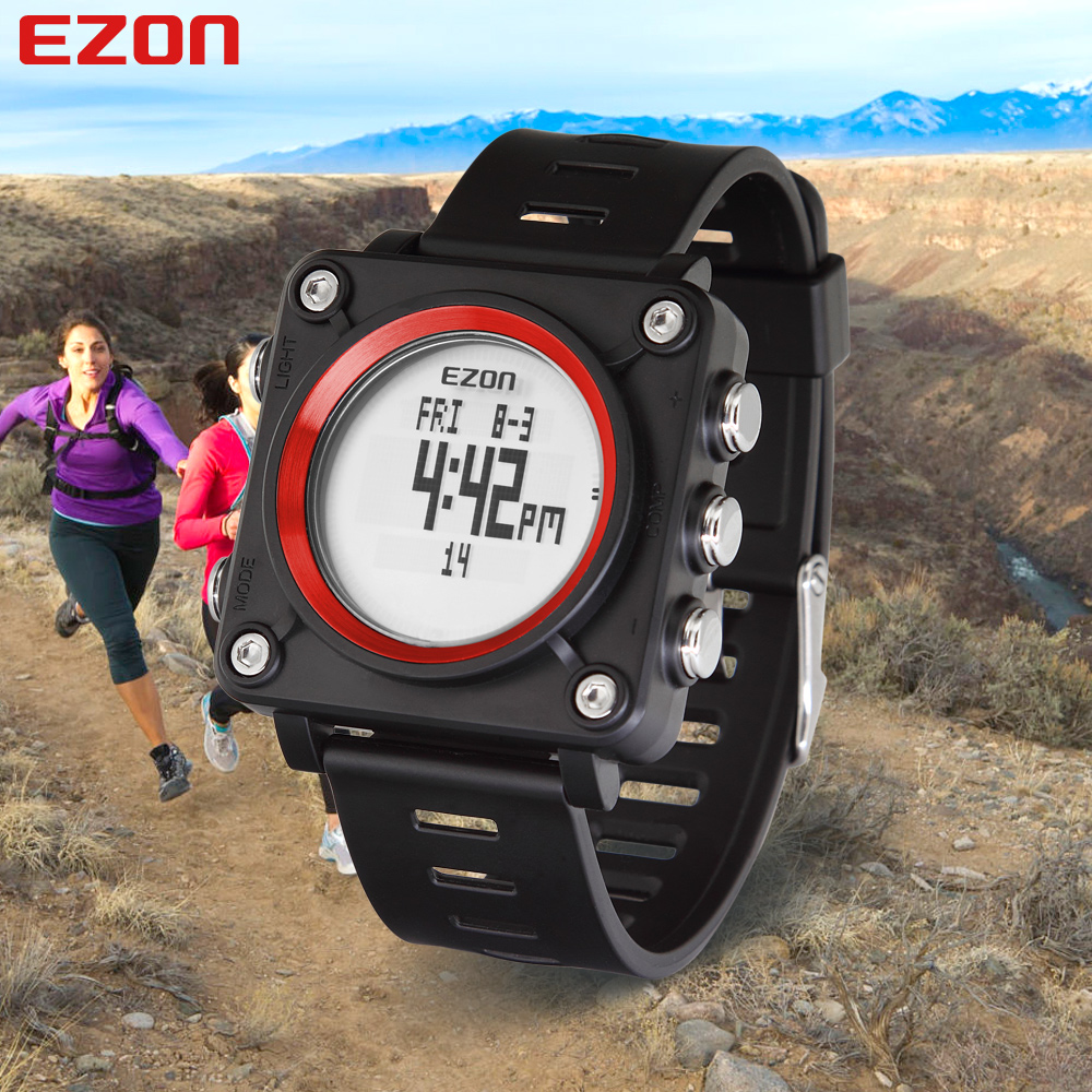 EZON Brand Men Women Sports Watches Digital Compass Military Watch Waterproof Outdoor Casual Wristwatches Relogio Masculino(China (Mainland))