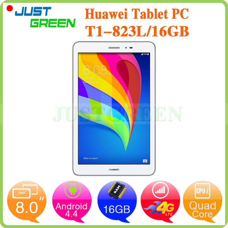 "Huawei T1-823L Honor Phablet 8"" IPS MSM8916 Quad Core Android 4.4 2GB RAM 16GB ROM 2MP+5MP Camera GPS Dual WIFI 4G Phone Call(China (Mainland))"